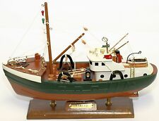 SHIP AMSTERDAM TRAWLER Fishing REPLICA BOAT WOODEN MODEL TOY 36CM COLLECTOR ITEM