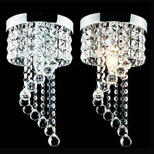 Modern Crystal Pendant Lamp Lighting Ceiling Light Spiral Rain LED Chandelier