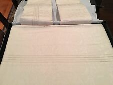 VERSACE Barocco 100% cotton king bed sheet - ivory - NWT