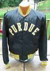 Vintage 1990's PURDUE BOILERMAKERS Player Game Used Satin Sideline Jacket Rare