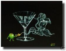 "Michael Godard-""I DREAM OF GENIE MARTINI""-Cocktails-Las Vegas-Art*SHOW SIGNED*"
