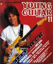 Young Guitar Nov/89 Jeff Beck Winger Reb Beach Paul Gilbert Schenker Sykes TNT