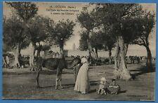 CPA : OUDJDA (Maroc) - Un coin du Marché indigène à travers les Oliviers