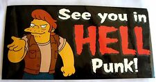 Simpsons Snake Jailbird sticker  Licensed *****see you in hell punk