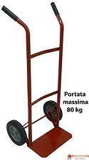 Carrello porta pacchi porta sacchi con 2 ruote portata 80 kg