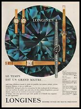 Publicité Montre LONGINES  Watch photo vintage print ad  1961  - 2i