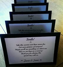 8 wedding disposable camera cards ( more colours available!)