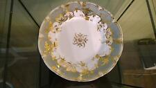 Stunning Georgian Rockingham Hand Painted & Gilded Plate 1826+