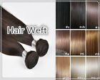 """18""""Remy Indian Human Hair Extension Weft Black/Brown/Blonde DOUBLE DRAWN 50g"""