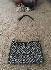 Chain Link Black Purse Rocker Biker Moto Trendy Purse Faux Leather New NWOT