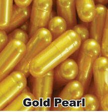 1000x NEW EMPTY GELATIN CAPSULES SIZE 00 (Kosher) CAPS PILL Color - Gold Pearl