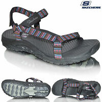 New Womens Skechers 40791 Reggae-Redemption Outdoor Velcro Sports Summer Sandals