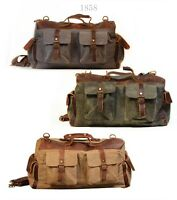 New handmade Canvas Messenger/Shoulder Bag Unisex travel school British
