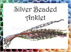~SILVER BEADED ANKLET~Surfer~Tribal~Jewellery~Multiple Strands~