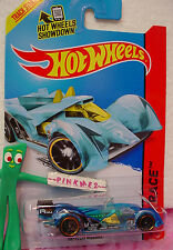 Case K/L 2014 i Hot Wheels HI-TECH MISSILE #180 ~Transparent Blue;pr5~X-Raycers~