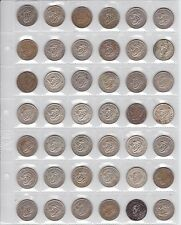 42 Silver Australia Shilling Coin coins Collection dates between 1946-1963 J-621