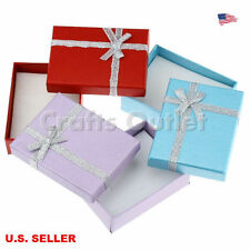 Lot of 10pcs Multicolor Jewelry Gift Boxes Necklace Pendant Earring Boxes9x7x3cm