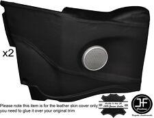 Tarjeta de puerta trasera de punto de 2X Negro Cubierta De Cuero Adapta Bmw Mini R52 Convertible 04-06