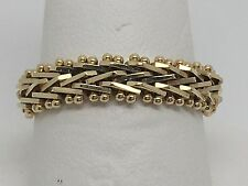 14K YELLOW GOLD IMPERIAL GOLD CHAIN LINK LADIES BAND RING