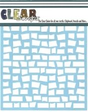 """Clear Scraps 6"""" stencil """"Brick Wall"""" for airbrush, decorative tole painting"""