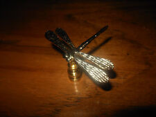 Distinctive Polished Brass Dragon Fly Lamp Finials