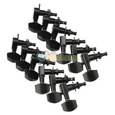 New 2 Set 12pcs Black Guitar Tuning Pegs Machine Heads tuner 6R + 6L