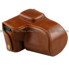 Leather Camera Case Bag Strap For Olympus PEN E-PL3 EPL3 EPM1 E-PM1 14-42mm lens