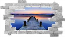 quadro-trompe l'oeil-finestra sul mare- adesivo per muro- old bridge