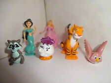 DISNEY PRINCESS & FRIENDS CAKE TOPPERS 6 PLASTIC FIGURES  BRAND NEW FREE P+P