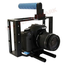 DSLR Camera CAGE RIG 1/4'' 3/8'' Thread for Canon 5D MarkII 60D 7D 1Ds 15mm Rod