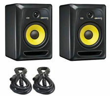 PAIR KRK RoKit 8 G3 Two-Way Active Studio Monitors w/ClassA-B Amplifier with XLR