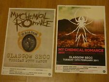 My Chemical Romance - Scottish tour Glasgow concert gig posters x 2