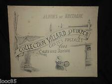 """très grande pub """"Collection Villard Quimper"""" Cartes postales Costumes bretons"""