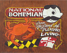 Natty Boh  Crab & Maryland  Poster Print vintage  style sign art decor baltimore