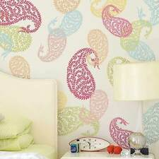 Jaipur Paisley Wall Art Stencil - MEDIUM - Reusable Ethnic Stencil Designs