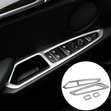 Inner Door Armrest Window Switch Button Cover Trim 4pcs For BMW X5 F15 2014-2017