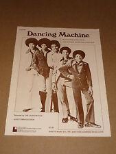 "Jackson Five ""Dancing Machine"" US sheet music"