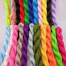 22PC 1.5mm Mixed Nylon Macrame Chinese Knot Cord Shamballa Beading Thread String