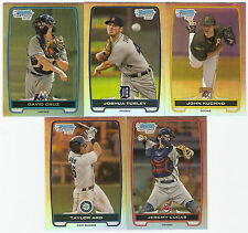 2012 BOWMAN CHROME REFRACTOR (5 CARD ROOKIE LOT) JOHN KUCHNO TURLEY CRUZ ARD