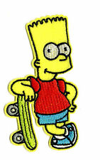 BART SIMPSON IRON ON / SEW ON PATCH Embroidered Badge PT58 THE SIMPSONS TV