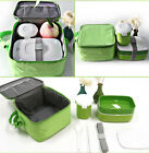 Bento Lunch Box Set Picnic Food Container with Water Mug & Insulated Tote Bag