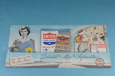 VTG 1946 UNITED  AIRLINES IN FLIGHT INFORMATION PAMPHLET TIMETABLE/MAPS/MORE