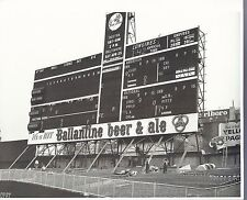 YANKEE STADIUM CLASSIC SCOREBOARD WITH STORIED ADVERTISING SIGNS AND CLOCK