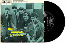"THE ANIMALS - THE ANIMALS ARE BACK - RARE EP 7"" 45 VINYL RECORD PIC SLV"