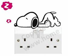 Lazy Sleepy Dog Snoopy Wall Door ipad Fridge Light Switch Vinyl Sticker Decal