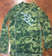 Men's DAHUI DA HUI compression shirt rash guard long sleeve camo XL hawaii surf