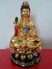 Chinese Lotus Buddhism Kwan-yin Guanyin Buddha Statue 6.5H