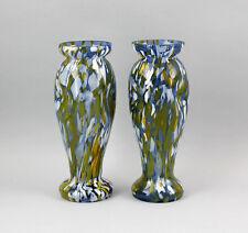 Vasen-Paar Jugendstil  bunte Einschmelzungen 9935798