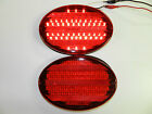 (2) RED Stop / Turn/ Tail Light LED 52 Diode Surface Mount, trailer Camper RV