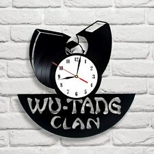 Wu Tang Clan design vinyl record wall clock home art playroom bedroom office 1